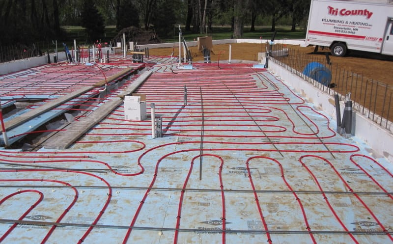 floor heating linoleum system floors underfloor systems pex in radiant heat flooring
